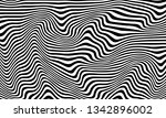 striped curved pattern. black... | Shutterstock .eps vector #1342896002