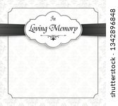 obituary with the text in... | Shutterstock .eps vector #1342896848