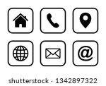 website set icon  web icon set... | Shutterstock .eps vector #1342897322