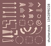 set of arrows and destinations...   Shutterstock .eps vector #1342898228