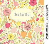 elegant seamless banner with... | Shutterstock .eps vector #134289896