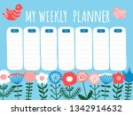 vector springtime ethnic floral ... | Shutterstock .eps vector #1342914632