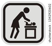 mother repacks baby   vector... | Shutterstock .eps vector #1342920602