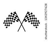 race flag simple design...   Shutterstock .eps vector #1342927628