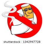 illustration of a no smoking... | Shutterstock . vector #1342947728
