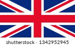 great britain flag. vector.... | Shutterstock .eps vector #1342952945