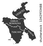 veneto   emilia romagna  ...   Shutterstock .eps vector #1342953488