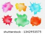 set of watercolor aquarelle... | Shutterstock .eps vector #1342953575