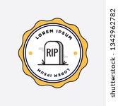 rip tombstone badge sticker... | Shutterstock .eps vector #1342962782