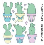 vector collection set with cute ... | Shutterstock .eps vector #1342968932