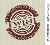red twine distressed grunge seal   Shutterstock .eps vector #1342971788