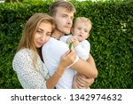 family walk in the park  happy...   Shutterstock . vector #1342974632