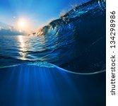ocaen view seascape landscape... | Shutterstock . vector #134298986