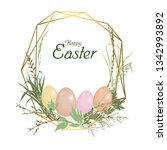 card happy easter holiday.... | Shutterstock .eps vector #1342993892