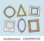 vector set of vintage photo... | Shutterstock .eps vector #1342994702