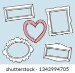 vector set of vintage photo... | Shutterstock .eps vector #1342994705