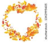 oak  maple  wild ash rowan... | Shutterstock .eps vector #1342995605