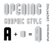 opening graphic style vector   Shutterstock .eps vector #1342997432