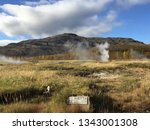 geysers and hot springs at the... | Shutterstock . vector #1343001308