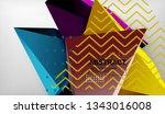 3d geometric triangular shapes... | Shutterstock .eps vector #1343016008