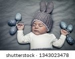 portrait of a cute little baby...   Shutterstock . vector #1343023478
