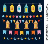 set of ramadan kareem strings... | Shutterstock .eps vector #1343040242