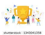 business team success ... | Shutterstock .eps vector #1343041358