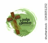 a christian palm sunday... | Shutterstock .eps vector #1343051252