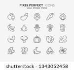 thin line icons set of... | Shutterstock .eps vector #1343052458