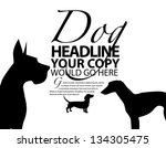 dog silhouette ad poster... | Shutterstock .eps vector #134305475
