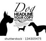 dog silhouette ad poster... | Shutterstock .eps vector #134305475