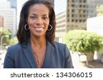 portrait of businesswoman... | Shutterstock . vector #134306015