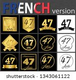 set of number forty seven years ... | Shutterstock .eps vector #1343061122