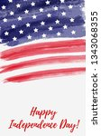 usa independence day background.... | Shutterstock .eps vector #1343068355