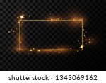 golden frame with lights... | Shutterstock .eps vector #1343069162