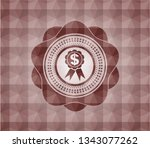 business ribbon icon inside red ... | Shutterstock .eps vector #1343077262