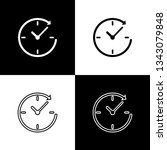 set clock with arrow icons... | Shutterstock .eps vector #1343079848