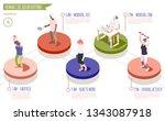 human circadian rhythms... | Shutterstock .eps vector #1343087918
