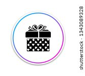 gift box and heart icon... | Shutterstock .eps vector #1343089328