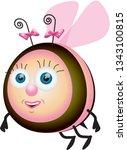 bee vectorel character | Shutterstock .eps vector #1343100815
