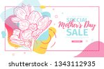 modern template design for mom... | Shutterstock .eps vector #1343112935