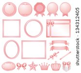 pink decorations. | Shutterstock .eps vector #134312405