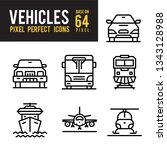 vehicle and transport outline... | Shutterstock .eps vector #1343128988