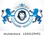 vintage emblem made in vector... | Shutterstock .eps vector #1343129492