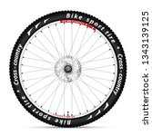 illustration bicycle wheel with ...   Shutterstock . vector #1343139125