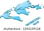 illustration isometric map of...   Shutterstock . vector #1343139128