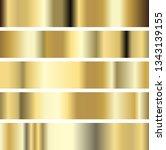 illustration five golden...   Shutterstock . vector #1343139155