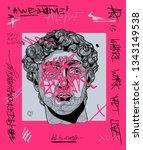 creative modern pink... | Shutterstock .eps vector #1343149538