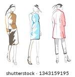 stylish fashion models. pretty...   Shutterstock .eps vector #1343159195