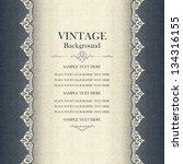 vintage background  antique... | Shutterstock .eps vector #134316155